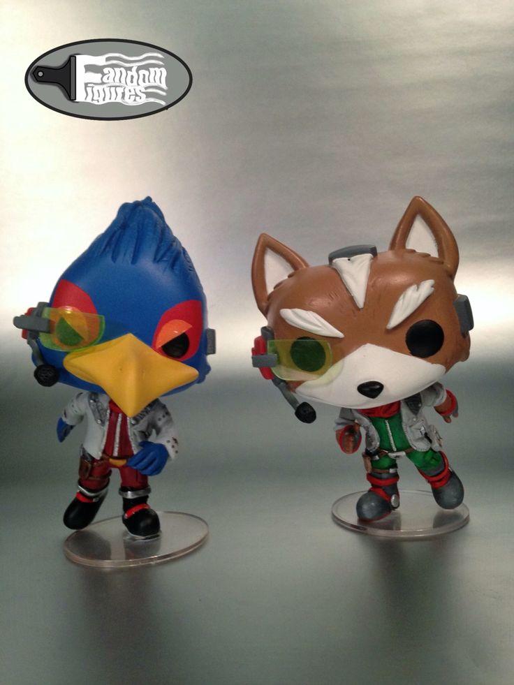 Fox Mccloud And Falco Lombardi Custom Funko Pop Vinyl