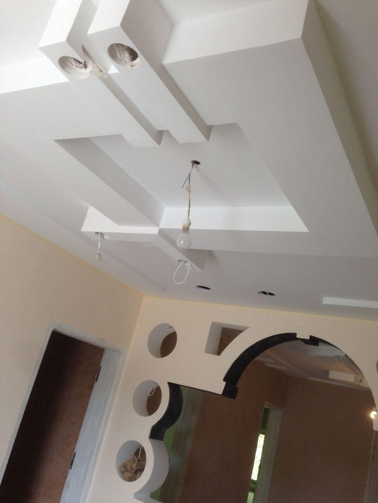 Decoration Salon Ba13 2021 in 2020 | False ceiling design ...