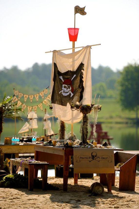 Organisez un goûter d'anniversaire pirate plus vrai que nature! Quelques idées sur http://www.go-reception.com/blog/gouter-anniversaire-pirate/