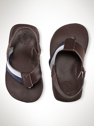 OMG.  Bradley Leather Flip-Flop - Toddler Toddler 4-10 - RalphLauren.com