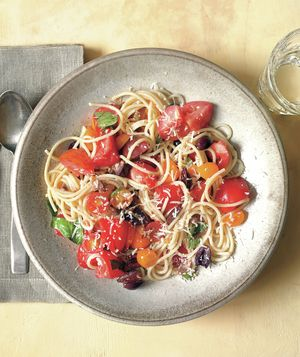 Get the recipe for Pasta With No-Cook Tomato Sauce. This was excellent ...