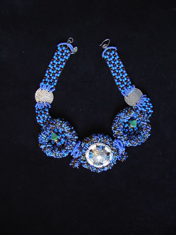 """Ethnic necklace by Maria Constanza Designs. """"This is part of my Calima collection. It's inspired in the Calima culture. Visit my website for more ethnic jewlry!"""" #fashion #ethnicaccessories #necklace #design"""