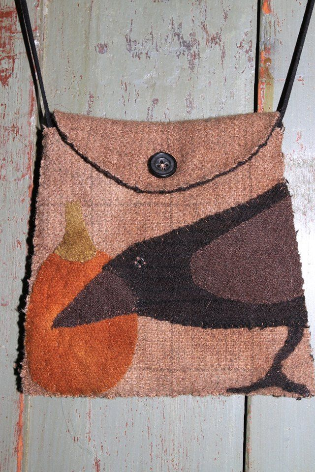 Maggie Bonanomi Old Crow Pocket Broderi Pinterest