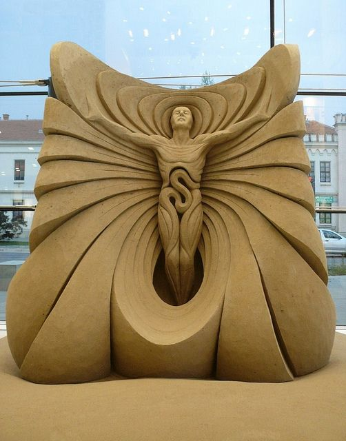"sand sculpture ""Leap of Fate"" by fergus mulvany that is amazing"