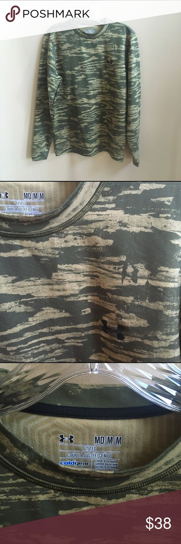 Men's Under Armour Camo Cold Wear Longsleeve Med Men's Under Armour Came Cold Wear Longsleeve Shirt Medium. Crewneck. Worn once. From a non-smoking and pet free home. Under Armour Shirts Sweatshirts & Hoodies
