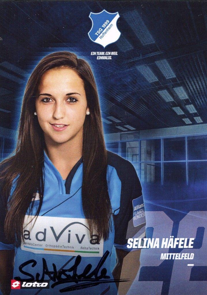 2016-17 TSG 1899 Hoffenheim Selina Häfele autograph