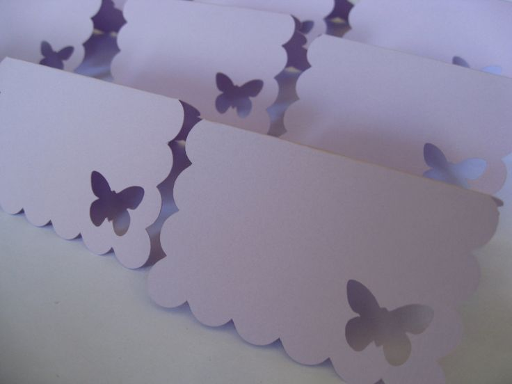 20 Butterfly Place Cards In Lavender. Weddings, Escort, Table Cards. Special Orders Welcome. Any Size, Color, Amount Available.. $10.00, via Etsy.