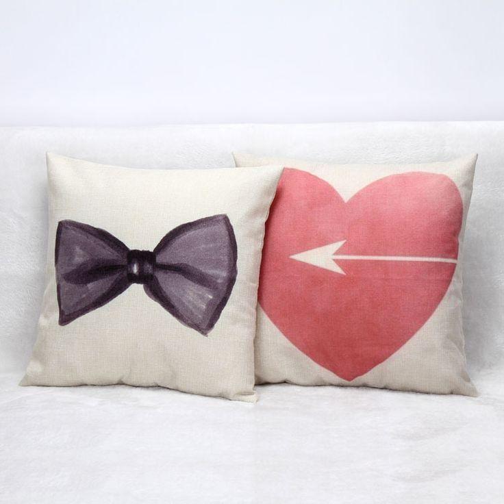 Cubiertas de la vendimia Throw Fundas estilo de Europa amantes de lino Fundas De Cojines de asiento
