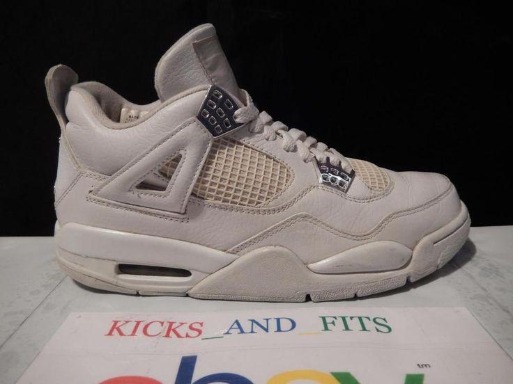 VTG 2006 Nike Air Jordan 4 IV Retro Pure Money White sz 8 w/og Box  308497-102