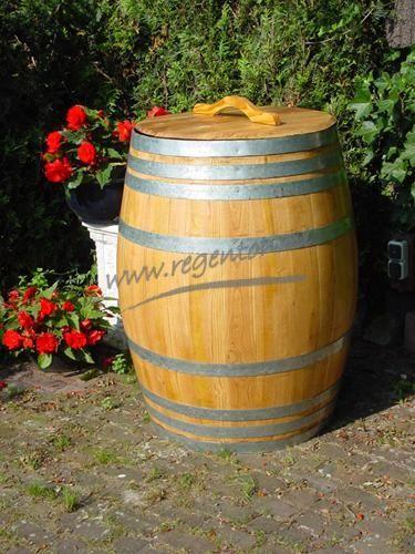 Wijnvat 400 l. blankgelakt met los deksel en hv - Webshop - Regenton.nl