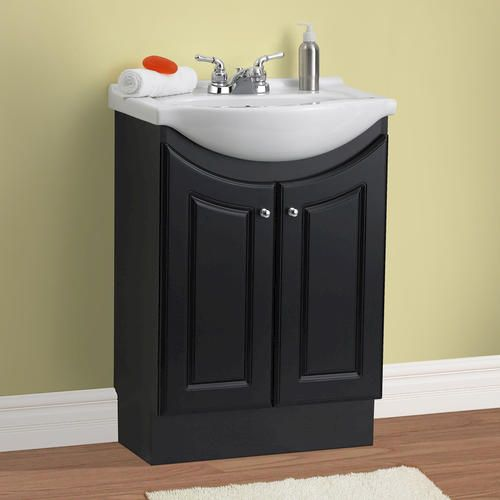 "Antique White Kitchen Cabinets Menards: 24"" Eurostone Collection Vanity Base At Menards"