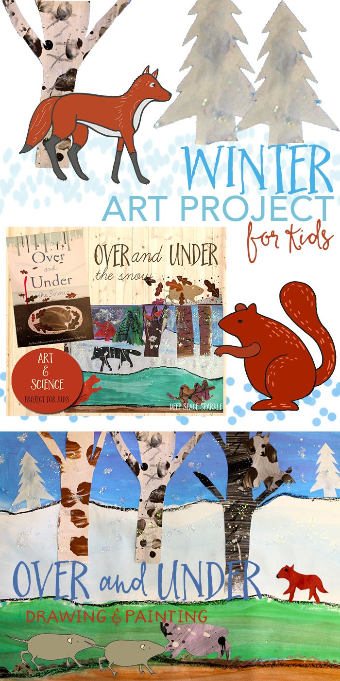 Based on the book, Over and Under the Snow, children draw winter animals and paint their habitats. Full lesson on Deep Space Sparkle