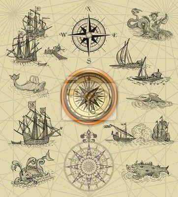 Фотообои Пиратские карты