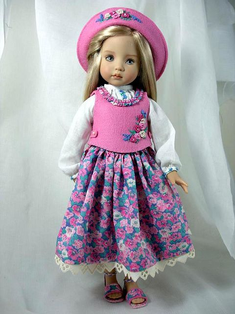 Last Day Luncheon - for Effner Little Darlings by Dress*Ups by pj, via Flickr  Such sweet dolls and a beautiful outfit!:
