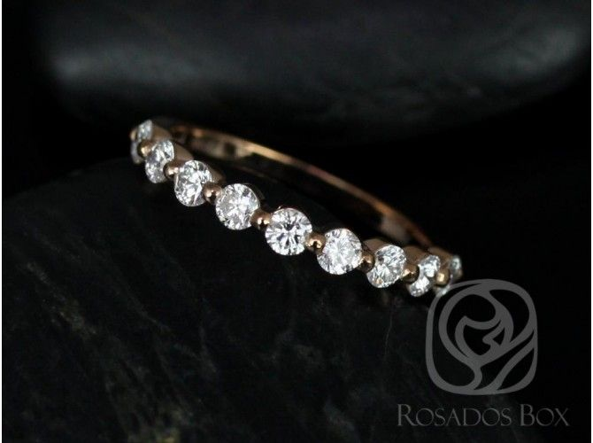 Rosados Box Original Naomi /Original Bubble & Breathe 14kt Rose Gold Diamonds HALFWAY Eternity Band | Love & Promise Jewelers