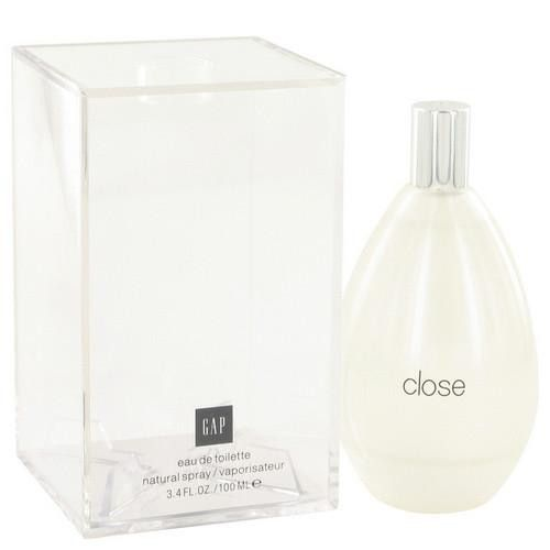 Gap Close by Gap Eau De Toilette Spray 3.4 oz (Women). This fragrance was created by fashion retailer Gap with perfumer Marypierre Julien and released in 2009.  A warm charismatic floral perfume with some surprises along the way.  This fragrance is full of clean and refreshing notes.  The top notes are citruses, aquatic notes, almond blossom and salt.  The heart notes are jasmine, freesia, stephanotis and daphne.  And the bottom notes are sandalwood, leather musk, amber and vanilla.