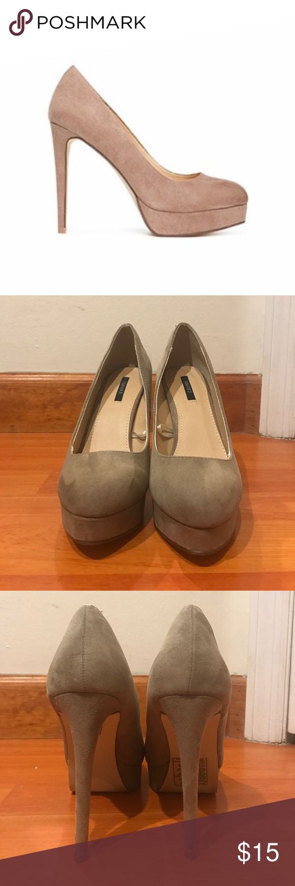 Faux Suede Platforms Pumps Never used Forever 21 Faux Suede Platform Pumps Forever 21 Shoes Platforms
