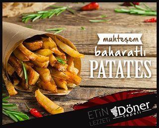 Muhteşem baharatlı patates Döner Sepeti'nde sizleri bekliyor! #food #yemek #döner #dönersepeti #lezzet #bolu www.donersepeti.com.tr