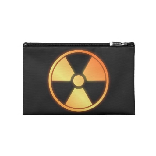 radioactive travel accessory bag by BannedWare