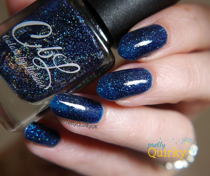 Living The Dream from Colors By Llarowe's limited edition Little Miss Independent collection, created for 4th of July / US Independence Day. This is a drop dead gorgeous navy blue jelly indie nail polish with heaps of holo micro glitters. Oh. My. God!