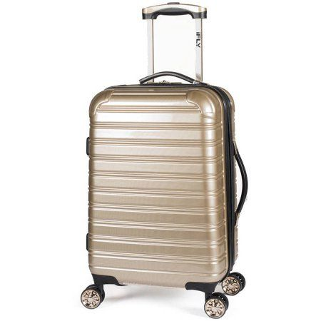 iFLY Hard Sided Luggage Fibertech, 20 inch, Gold