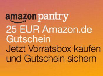 """Amazon Pantry: 25 Euro Gutschein-Rabatt bei Kauf einer vorgepackten Box http://www.discountfan.de/artikel/essen_und_trinken/amazon-pantry-gutschein-rabatt-november-2015.php Im Rahmen der Cyber-Monday-Woche möchte Amazon offenbar seinen Lebensmittel-Lieferservice bekannter machen: Wer jetzt eine vorgepackte Box von """"Amazon Pantry"""" im Wert von 57,13 Euro kauft, wird mit einem Amazon-Gutschein über 25 Euro belohnt. Amazon Pantry: 25 Euro Gutschein-Rabatt b... #G"""