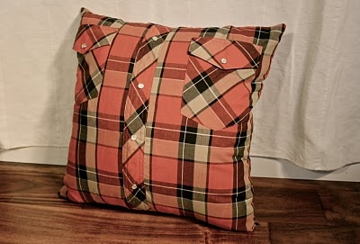 super fun idea for your guy's old plaid shirts.
