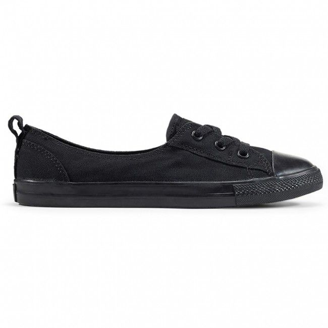 620c18ec0367 Chuck Taylor All Star Ballet Lace Slip Black Black shoes for women by  Converse.