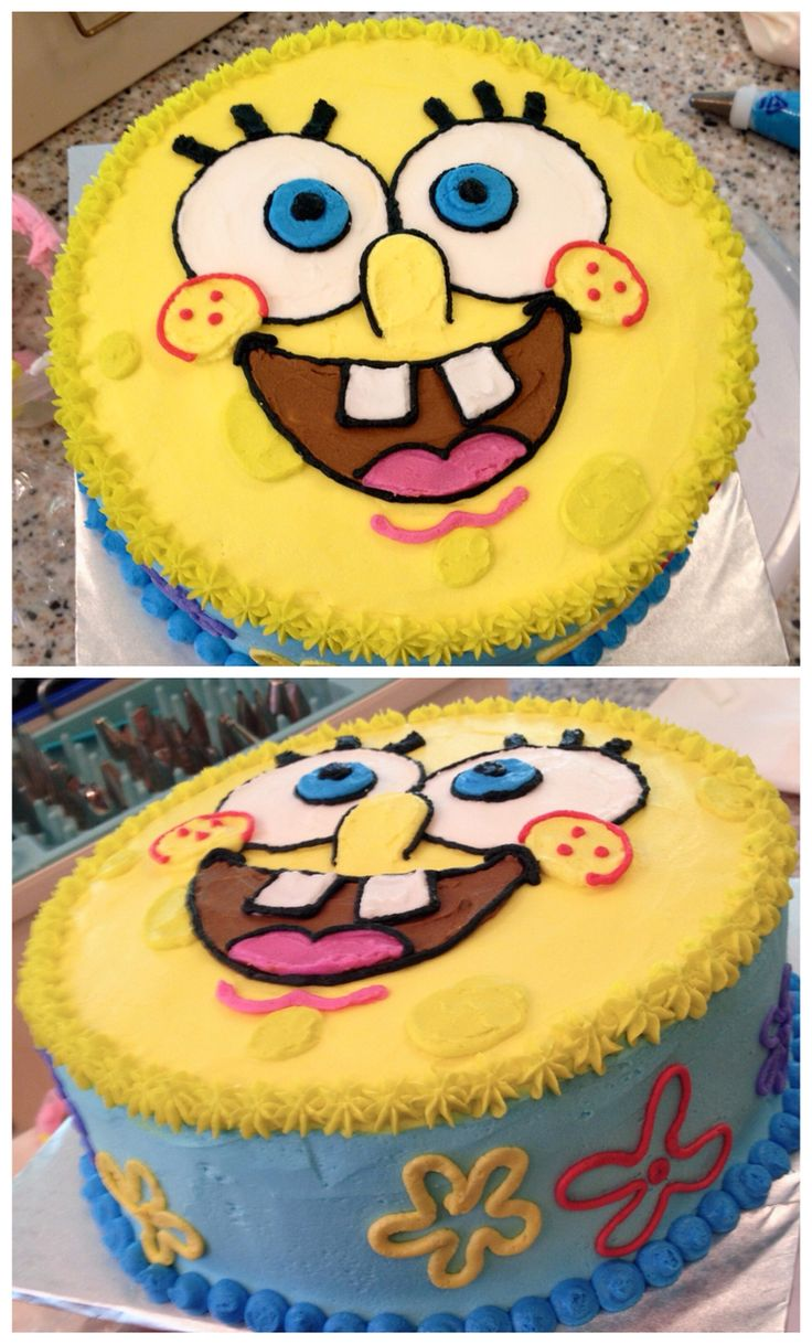 25 best sponge bob cake ideas on pinterest spongebob birthday