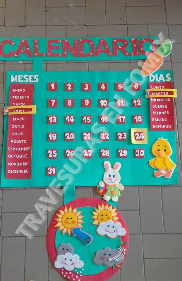 Calendario Para Ninos De Kinder.Calendario Para El Aula De Clases Ideas Salones Aula De