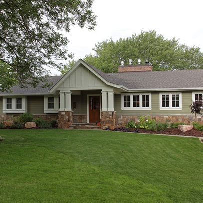 Traditional Home 1950s Ranch Exterior Remodeling Design