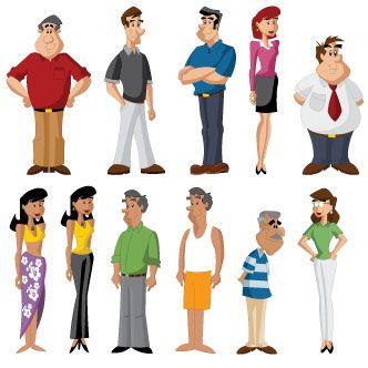 Personas con ropa de verano