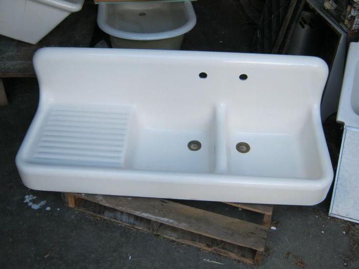 High back porcelain cast iron sink cast iron sinks Pinterest