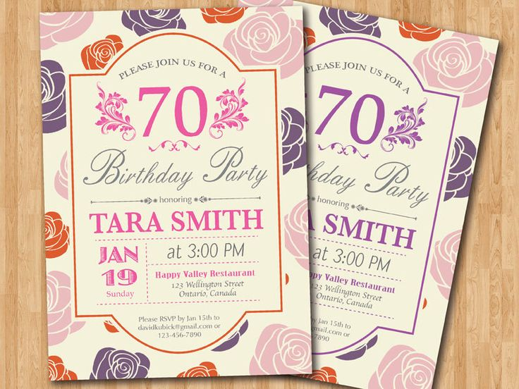 12 best 3d wallpapers images on pinterest invitation cards 70th birthday invitation women 80th 90th purple pink or any color 30th filmwisefo Images