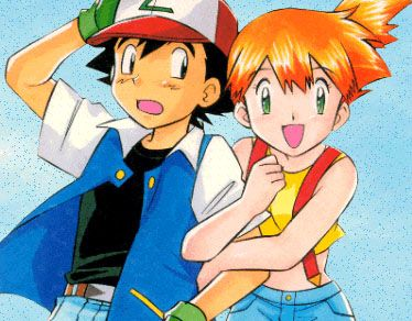 Ash Ketchum and Misty from Pokemon. I really thought they would hook up or something. -Disappointed-   -_- But also glad because I've always secretly loved Ash O_O
