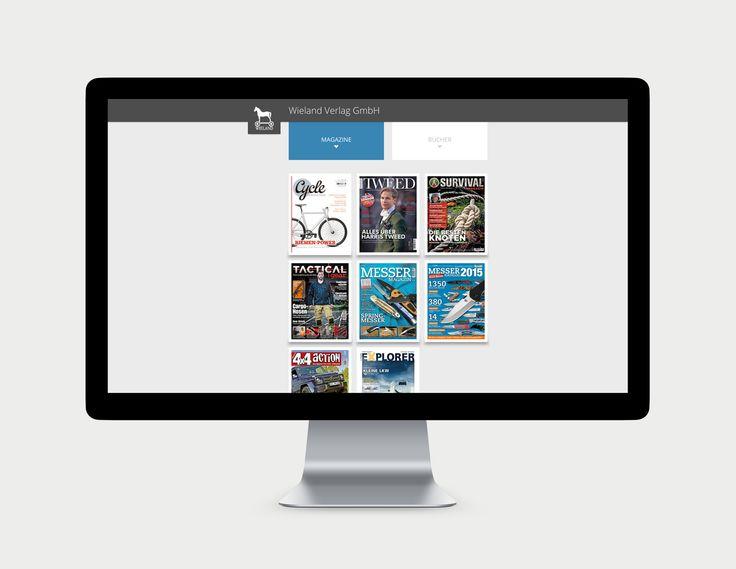 Wieland Verlag Website Übersicht