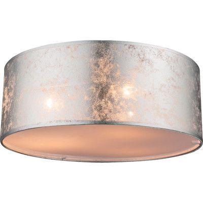 Home Loft Concept Theo 3 Light Flush Ceiling Light & Reviews | Wayfair.co.uk