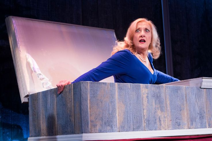 Silver Belles at Signature Theatre- Review by The He Said She Said Experience Donna Migliaccio (Oralene) in  Silver Belles at Signature Theatre through  December 31. Photo by Christopher Mueller