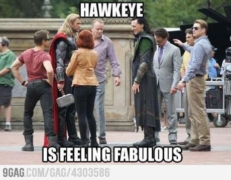 haha oh hawkeye: Laughing, Stuff, Marvel, Captain America, Jeremy Renner, Feelings Fabulous, Funny, Hawkeye, The Avengers