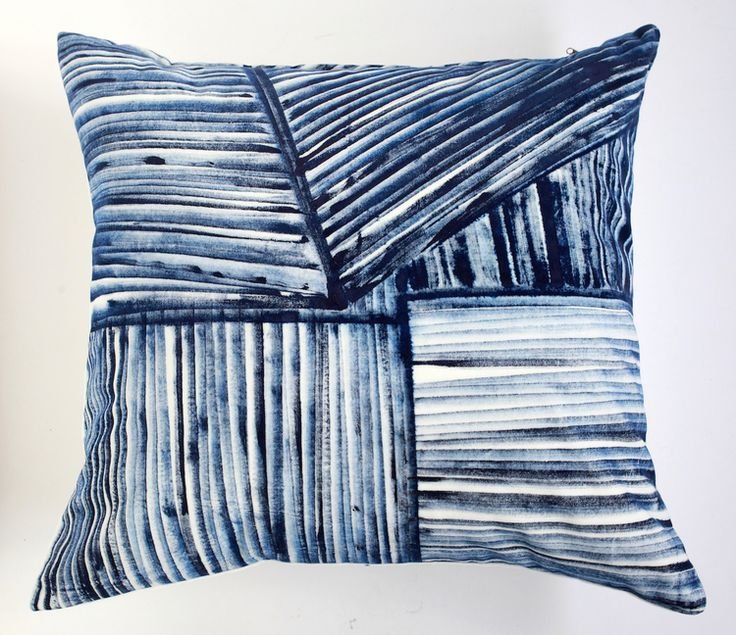 Striations, hand painted on cotton velvet / bbellamy&bbellamy artists' textiles