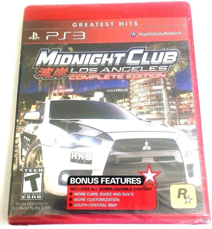 Great Hits PS3 Midnight Club  Los Angeles Complete