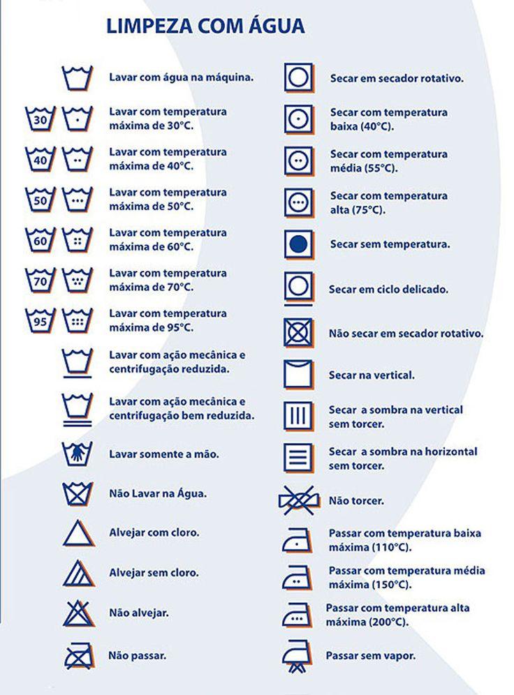 Entenda os símbolos nas etiquetas de roupas