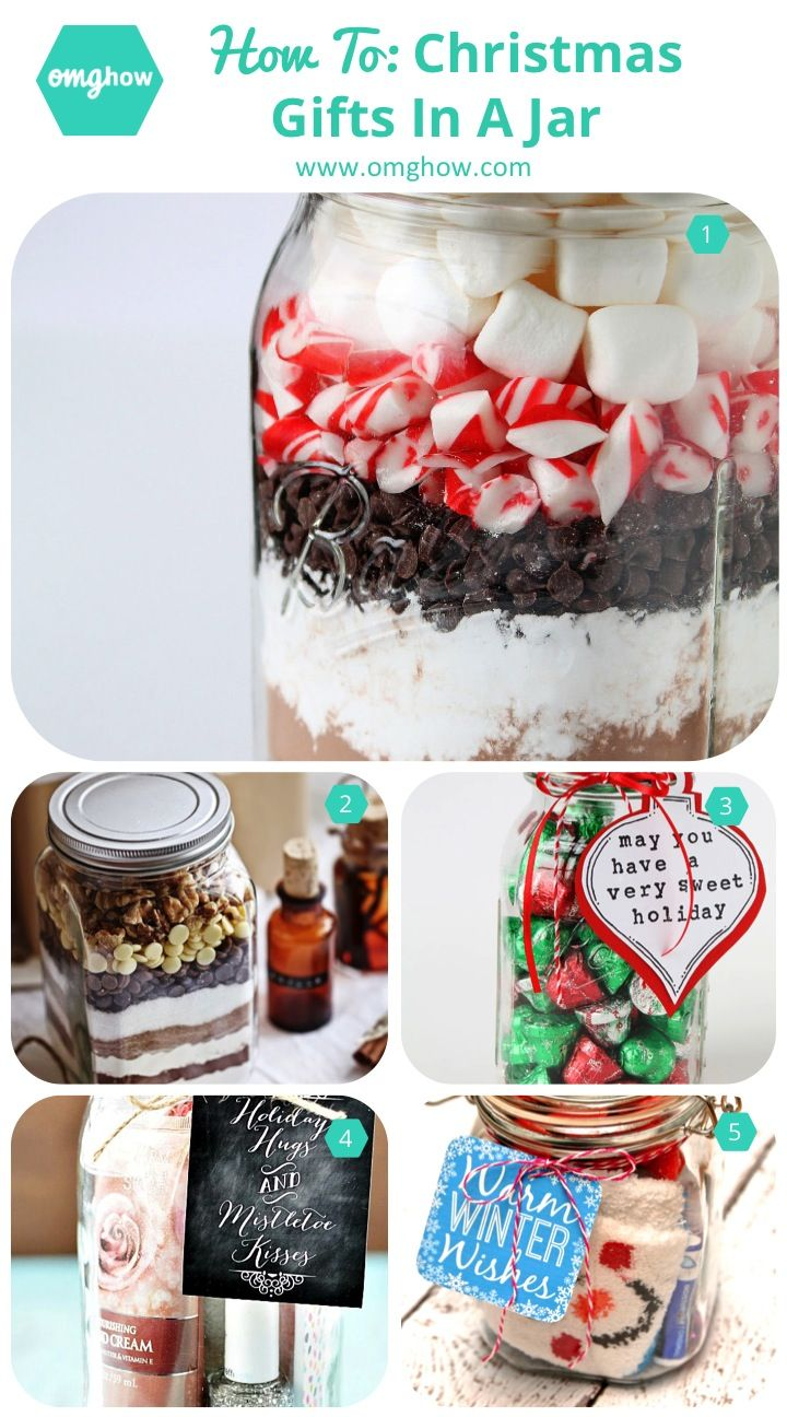 DIY Christmas Gifts in a Jar! These easy and cheap gifts make fun christmas presents for your teachers, friends, and family.