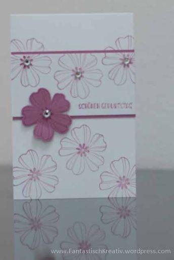 Geburtstagskarte Flower Shop Cards Handmade Karten Basteln Blumen Karten Und Geburtstagskarte Basteln Stampin Up