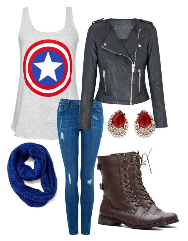 """""""captain America shirt yay"""" by a-dance02 ❤ liked on Polyvore featuring Forever New, Old Navy and Ben-Amun"""