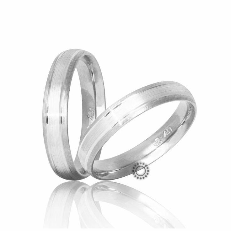 Βέρες γάμου Στεργιάδης S-11-WW | Μοντέρνες ανατομικές λευκόχρυσες βέρες σε ματ φινίρισμα | Κοσμηματοπωλείο ΤΣΑΛΔΑΡΗΣ #βέρες #βερες #γάμου