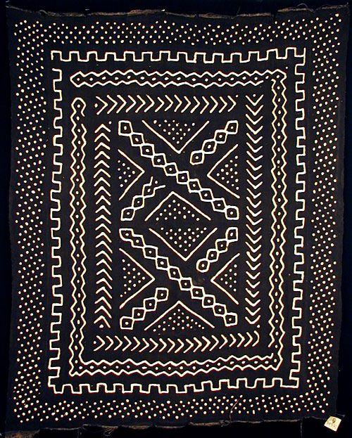 bogolanfini mudcloth from Mali. west Africa.