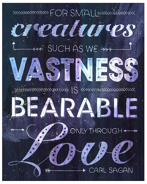 Typographic Carl Sagan Love Poster by Rachelignotofsky on Etsy