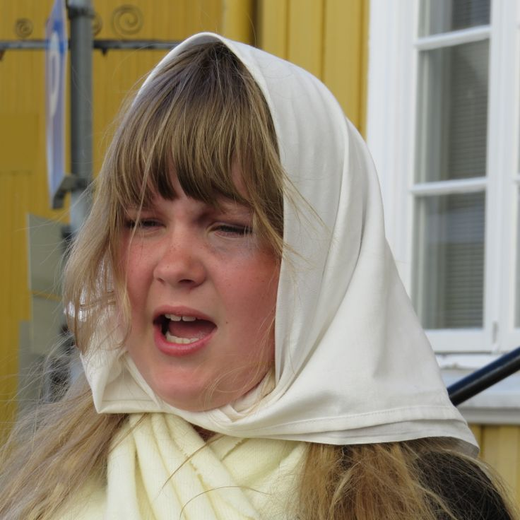 "5th graders perform historical street theater in Kragerø, Norway. In 2013 we celebrated the 100 year anniversary for the women's vote in Norway. The girl is rolemodelling one of the ""match girls""  working under gruesome conditions in a shack of a factory. Almost all got the serious illness of phosfor necrosis. They were the first women on strike in Norway in 1889. They paved the road for our welfare society to day. Photo: Mette K. Ofstad"
