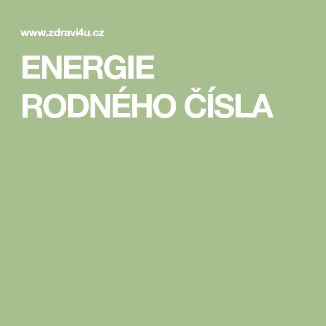 ENERGIE  RODNÉHO  ČÍSLA